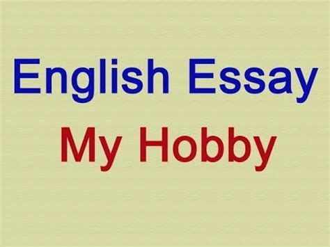 My Hobby Essay In Japanese People
